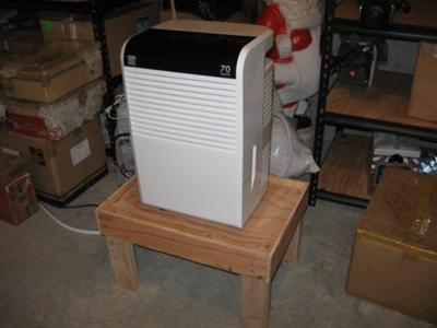 Dehumidifier on its stand